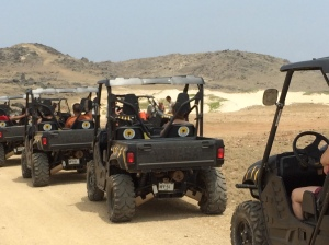 Trail riding in Aruba..